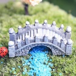 1db Brick Cyan Bridge Miniatűr kézműves növényi tündérfűke babaház dekoráció kerti dísz DIY új
