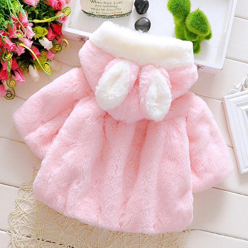 2ec9571e97 1 db gyerek baba lány kabát téli ruha nyuszi is fül