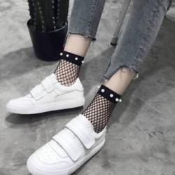 42 Vintage női necc hálós fodros rövid boka magas zokni csipke rövid harisnya