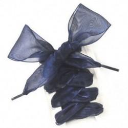 Fekete elegáns szatén szalag cipőfűző - Sport - Alkalmi - Vászoncipőhöz