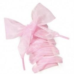 Rózsaszín Új lapos selyem szatén szalag cipőfűzők Sport cipő csipkék cipők cipők