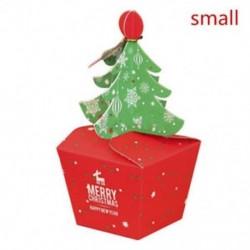 Kicsi Karácsonyfa alakú ajándék Candy Fudge Cookie Box Kedvenc táska Xmas Party Decor Hot