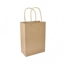 * 9 10 színek újrahasznosítható kraftpapír-ajándéktáska, fogantyú-parti lottózsákokkal