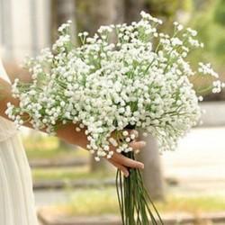 Gypsophila virágos mesterséges hamis selyem virág növény fél esküvői lakberendezés Új