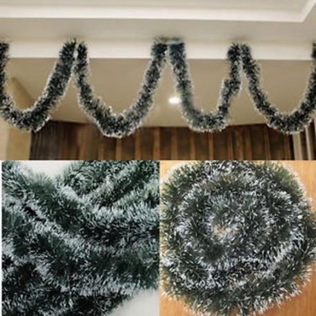 Karácsonyi fa dísz dekoráció fél ünnep karácsonyi sötét zöld szalag dekoráció