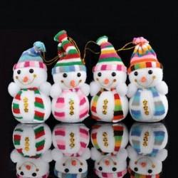 Karácsonyi hóember díszek fesztivál fél karácsonyi fa függő dekoráció dekoráció