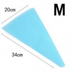 M Újrafelhasználható szilikon jegesedés csövek krém sütemény táska torta díszítő eszközök DIY 3 méret