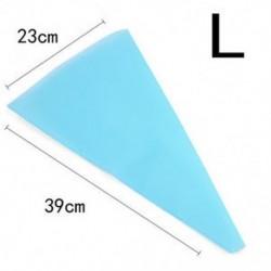 L Újrafelhasználható szilikon jegesedés csövek krém sütemény táska torta díszítő eszközök DIY 3 méret