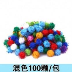Színes 100db 15mm plüss labda karácsonyi díszek kézműves karácsonyi ajándék doboz dekoráció DIY