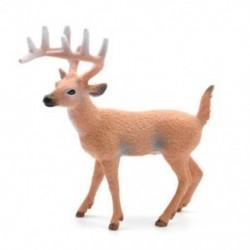 Rénszarvas 1 db szarvas figura Karácsonyi baba fehérfarkú rénszarvasok otthon Xmas dekoráció JP