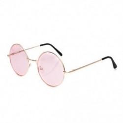 Rózsaszín Női divat retro kerek műanyag szemüveg objektív napszemüveg szemüveg keret szemüveg