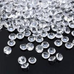 fehér 1000PCS 4.5mm DIY Esküvői fél ünnepi dekoráció Átlátszó akril kristályok