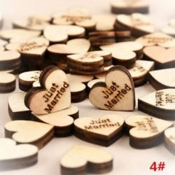 * 4 Csak házas 100db rusztikus, fából készült fa szerelem szív esküvői asztal Scatter dekoráció kézműves DIY