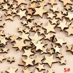 *5 csillag 100db rusztikus, fából készült fa szerelem szív esküvői asztal Scatter dekoráció kézműves DIY