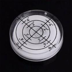 fehér 32x7 mm-es Spirit Bubble Degree Mark felületi szintű kerek körmérő mérő JP