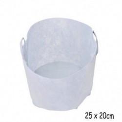 3 Gallon with Handles Kerek szövet edények növény tasak gyökér konténer nő zsák levegőztető tartály fehér