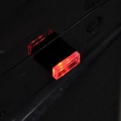 Piros 1db USB vezeték nélküli univerzális mini beltéri autós otthon LED világítás légkör lámpa