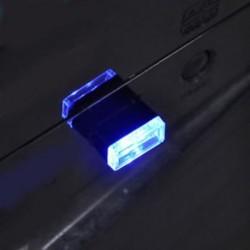 Kék 1db USB vezeték nélküli univerzális mini beltéri autós otthon LED világítás légkör lámpa