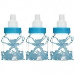 3db kék medve (9x4cm) 24db Mini palackok medve lány / fiú baba zuhany fél kedvez az asztali dekoráció ajándék