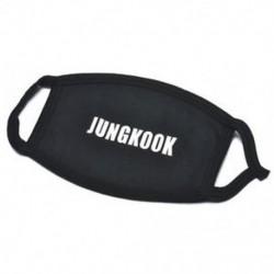 JUNGKOOK Unisex Kpop BTS TWICE WANNA ONE BLACKPINK Szájmaszk Arcmaszk Respirátor Fekete