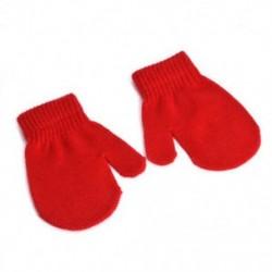 Piros Téli kisgyermek gyerekek kesztyű baba fiú lány aranyos puha kötés ujjatlan meleg kesztyű