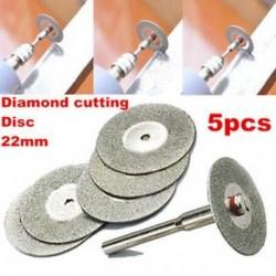 Hasznos 5PCS 22 mm-es Emery gyémántvágó pengék Fúrószár   1 mandzsetta