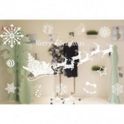 1PC A-03 (70X50CM) Kivehető hópehely harangok fal matrica vinil matrica vidám karácsonyi ablak dekoráció