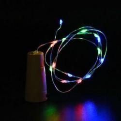 Színes 10 LED éjszakai fény parafa alakú Cooper huzal csillagos fény borosüveg lámpa dekoráció