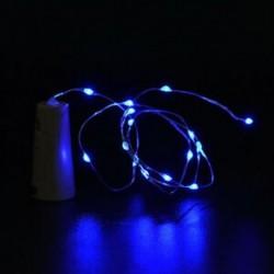 Kék 10 LED éjszakai fény parafa alakú Cooper huzal csillagos fény borosüveg lámpa dekoráció
