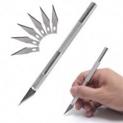 5db / készlet hobbi borotva kés készlet késekkel   tok stencil (pengék illeszkednek késsel)