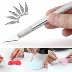 5Pcs Hobby borotva késkészlet pengével Case Stencil készlet PackďĽˆBlades Fit kés)