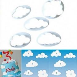 5db felhő műanyag fondant vágó torta penész fondant torta díszítő eszközök fehér