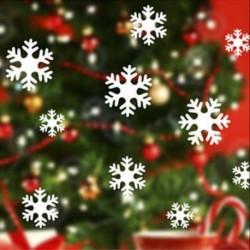 13db-os Fehér hópehely ablakmatrica szett - Karácsonyi dekoráció