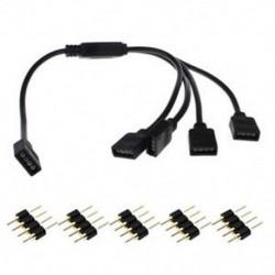 1-4 4Pin RGB LED Splitter csatlakozó Huzal kábel Aadapter csatlakozó 3528 5050 Led szalaghoz