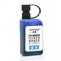Kék 25ml Alkohol tintapatron újratöltése POP reklám poszterjelző toll feltöltésére