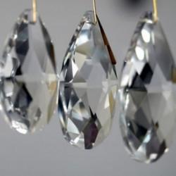 10db tiszta vízcsepp kristályüveg gyöngy medál csillár karácsonyi díszek