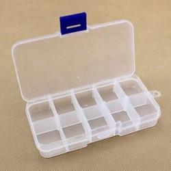 10 rekesz Műanyag 15/10/24 Slots Állítható ékszertároló doboz Box Craft Organizer Beads