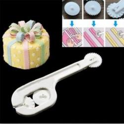 4Pcs Cake Fondant Cukor Craft Paste Embosser Kerék varrás vágó DIY eszközök