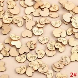 * 2 Szerelem 100db romantikus rusztikus fa szerelem szív esküvői asztal szétdíszítés dekoráció kézműves