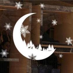 1PC Hold (25 * 35CM) Vidám karácsony fali művészet eltávolítható otthoni vinil ablak fal matricák matrica dekoráció