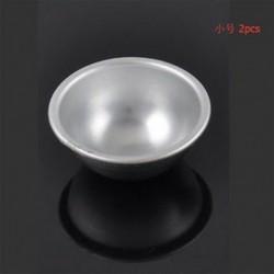 5.5cm 2X 3D alumínium fürdő bomba öntvény labda gömb serpenyőben torta penész sütés zselés dekoráció eszköz