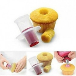 Konyha Muffin Cake Cupcake Corer dugattyú vágó tészta díszítő Divider modell