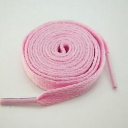 Rózsaszín 1 pár lapos színes cipőfűző sík sportos sportcipő cipőfűzők húrjai 130cm