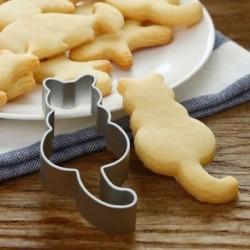 Aluminium macska alakú penész diy cukorkát sütemény cookie tészta sütés vágó penész