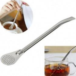 Pro Tea rozsdamentes acél ivóvíz szalma tök Bombilla szűrő kanál eszköz Új