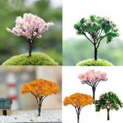 3X kerti dekoráció Bonsai Sakura fa miniatűr növény edények tündér dísz diy