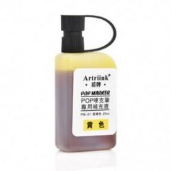 Sárga Alkohol festék újratöltése A POP plakát reklámjelző toll 25 ml újratöltéséhez
