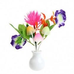 Lótusz virág Romantikus amerikai dugó virág gomba LED éjszakai fény érzékelő baba ágy szoba lámpa dekoráció