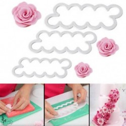 3D rózsaszirom virág torta vágó fondant jegesedés eszköz Sugarcraft díszítő penész