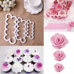 3D rózsaszirom virág torta vágó fondant jegesedés eszköz díszítő penész cukor